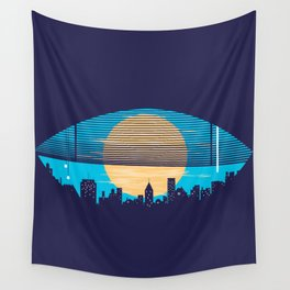 Eye On The City Wall Tapestry
