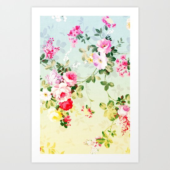 VINTAGE FLOWERS II - for iphone Art Print