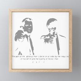 EZEKIEL 25 Framed Mini Art Print
