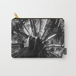 Dramatic Palm Tree Upshot Photo in Black & White Carry-All Pouch
