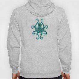 Intricate Teal Blue Octopus Hoody