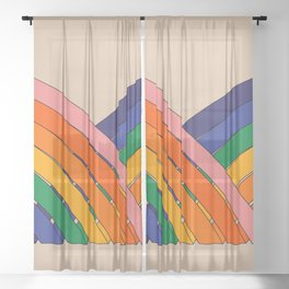 Keep Bouncing Sheer Curtain