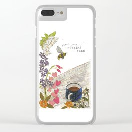 Morning Buzz Clear iPhone Case