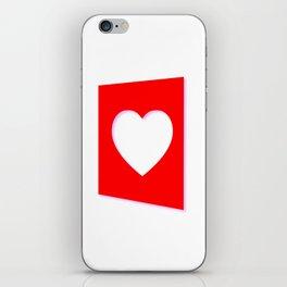 Valentine Heart Background iPhone Skin