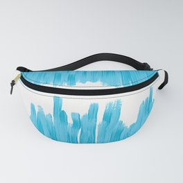Sea of Blue Painted Fanny Pack