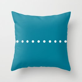Dots Blue Throw Pillow