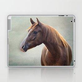 Horse. Drawing portrait Laptop & iPad Skin