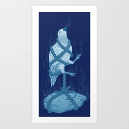 In love with a sinking stone Art Print