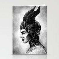 maleficent Stationery Cards featuring Maleficent  by Denda Reloaded