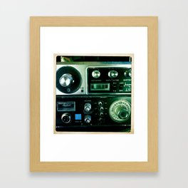 Knobs and Switches Framed Art Print