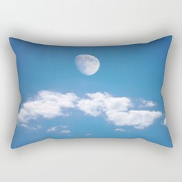 Daytime - Gibbous Moon Rectangular Pillow