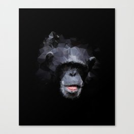 Triangle Art Monkey sticking out tongue Canvas Print