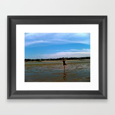 Beach Yoga Framed Art Print