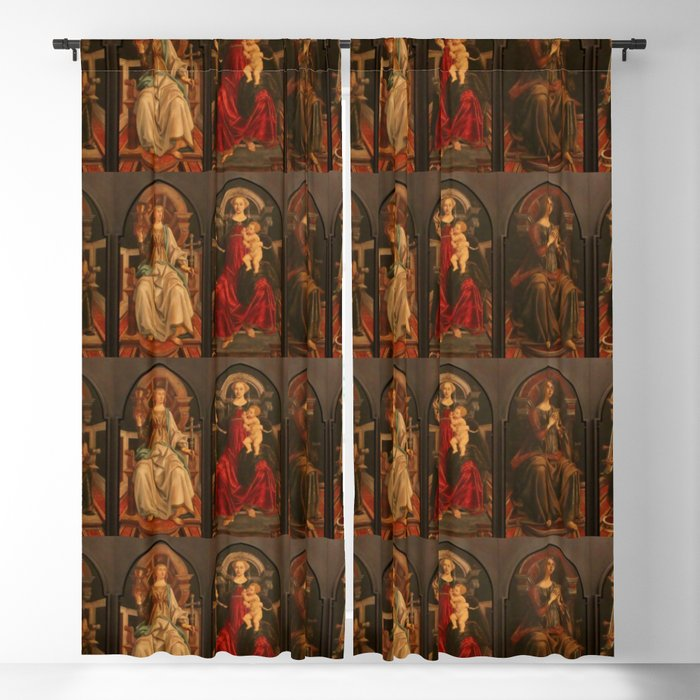 "Sandro Botticelli and Piero del Pollaiolo ""Theological and cardinal virtues"" Blackout Curtain"