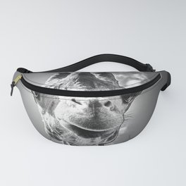 Cool Giraffe Black and White Fanny Pack