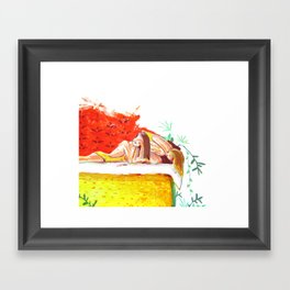 """I can't believe you just said that!"" Framed Art Print"