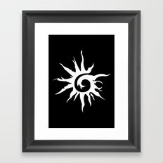 Sun Spiral (white) Framed Art Print