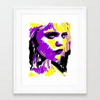 sky ferreira Framed Art Prints featuring Sky Ferreira by Simon Falk
