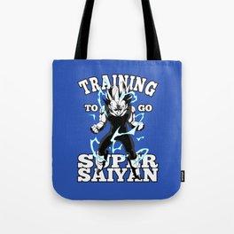 Training to go super saiyan Tote Bag