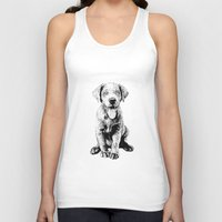 puppy Tank Tops featuring Puppy by Molly Morren