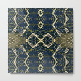 Vividly Mainly Bicolor Pattern 4 Metal Print
