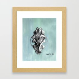 Ventral Surface of a Mink Skull Framed Art Print