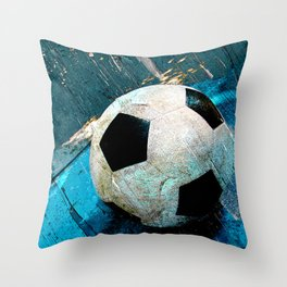 The soccerball version 2 Throw Pillow