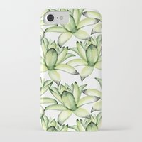 succulents iPhone & iPod Cases featuring Succulents by Julia Badeeva