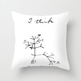 Darwin - Tree of Life - I Think Throw Pillow