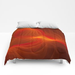 Much Warmth, Abstract Fractal Art Comforters