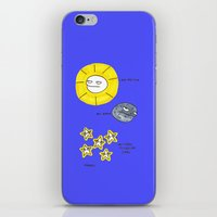 rubyetc iPhone & iPod Skins featuring My sun, my moon, my tired pissed off stars by rubyetc