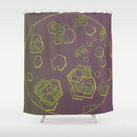 chemistry Shower Curtains featuring Chemistry Slide Illustrations by redone
