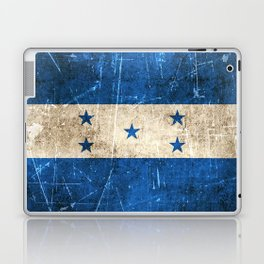 Vintage Aged and Scratched Honduras Flag Laptop & iPad Skin