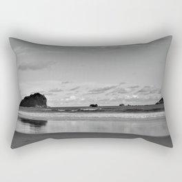 Black and White California Ocean Rectangular Pillow