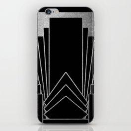 Art deco design - silver glitz iPhone Skin