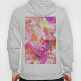 Abstract pink purple yellow - Colorful triangle pattern Hoody