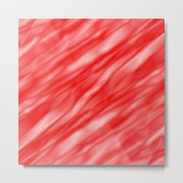 A fluttering cluster of red bodies on a light background. Metal Print