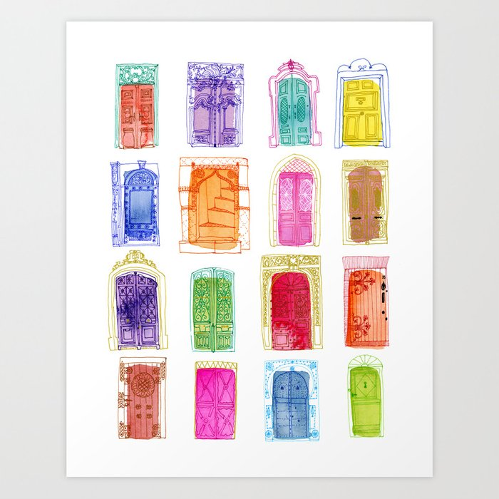 Doors of the World Art Print