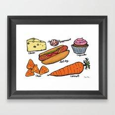Happy Helpings Framed Art Print