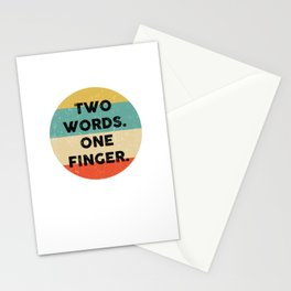 Middle Finger design for Men and Women design Stationery Cards