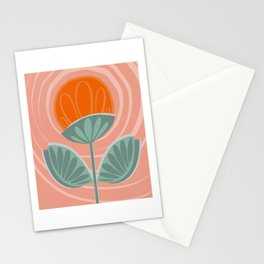 Flower Power Pink Stationery Cards
