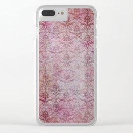 Damask Vintage Pattern 11 Clear iPhone Case