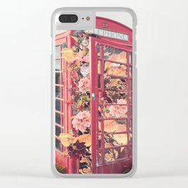 Flower Booth Clear iPhone Case