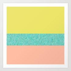 Yellow-Pink Art Print