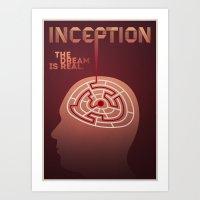 inception alternative poster Art Print