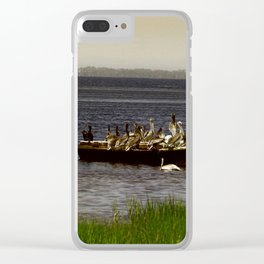 All Aboard Clear iPhone Case