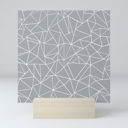 Abstraction Outline Grey Mini Art Print