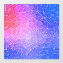 Abstract Colorful Flashy Geometric Triangulate Design Canvas Print