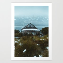 The Dove Lake Boat Shed - Cradle Mountain Art Print