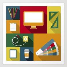 Designer flat tools Art Print
